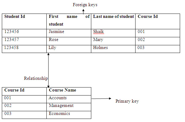 Primary Key and Foreign Key Relationship